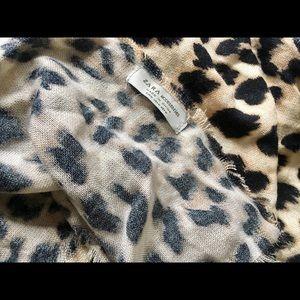 Zara leopard print scarf